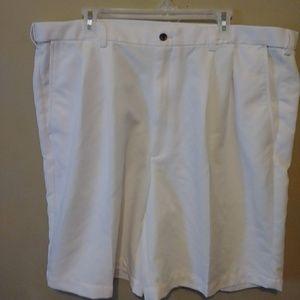 Men's White Haggar Shorts